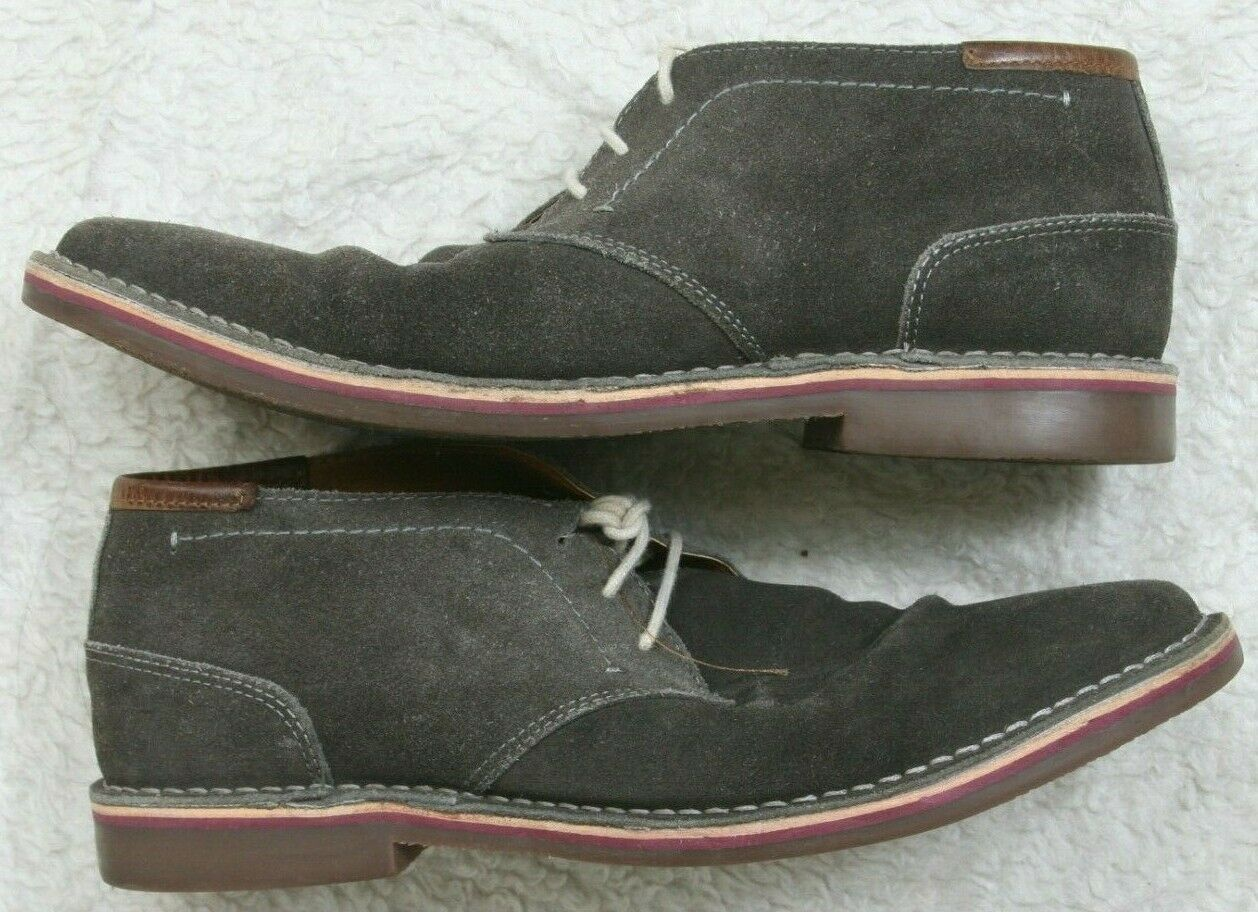 Kenneth Cole Reaction Dress Shoes Fabric Uppers Solid Mans Men Gray Nine 1/2 9.5