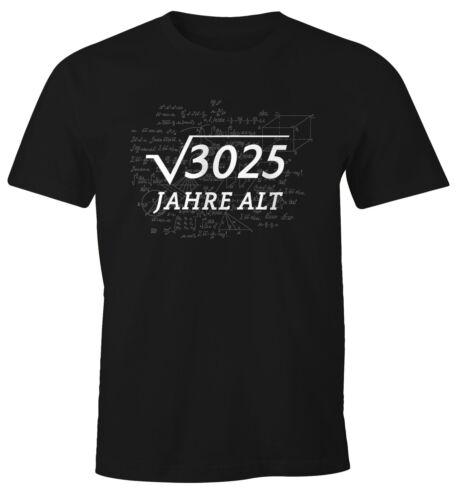 T-Shirt Hommes Anniversaire Racine Maths CADEAU FUN-SHIRT moonworks ®
