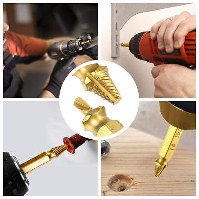 4 Pieces, HSS 4341# Golden Broken or Stripped Screws Lockwish Damaged/&Stripped Screw Extractor Set,HSS 4341,Available in Gold and Silver Easily and Quickly Remove All Common Sizes of Damaged