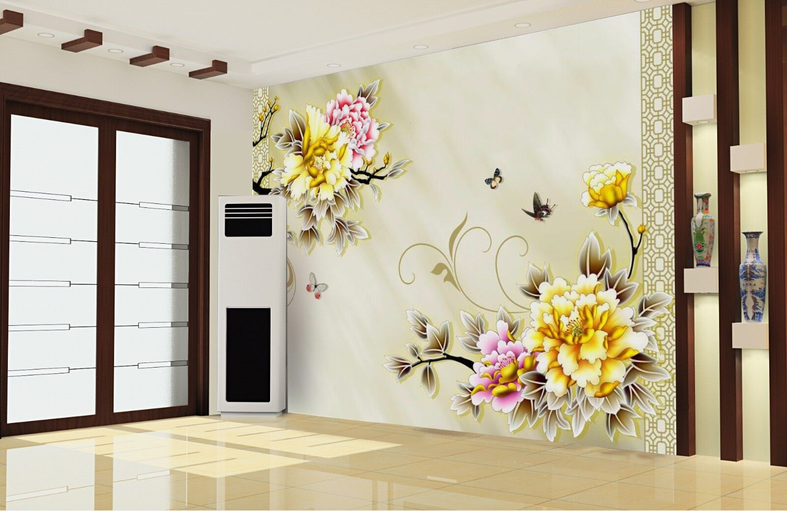 3D Farbeful flower 384 Wall Paper Wall Print Decal Wall Deco Indoor Wall Murals