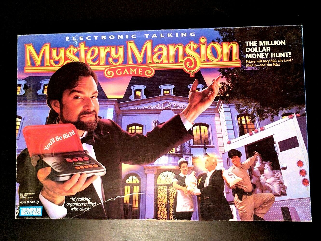 MYSTERY MANSION ELECTRONIC TALKING MILLION DOLLAR MONEY HUNT GAME