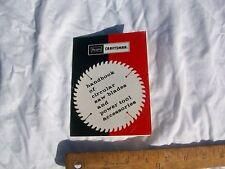 Sears Craftsman Handbook of Circular Saw Blades & Power Tool Accessories 37 page
