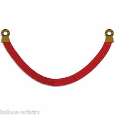 8ft Hollywood VIP Party Red Tissue Paper Stanchion Rope Decoration