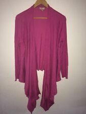 CC Stretchy Heavy Knit Cardigan Size M Open Style In Dark Pink  R6808