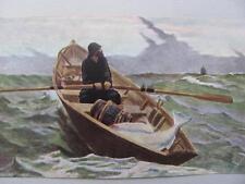 Vtg FA Owen Art Print Winslow Homer Fog Warning w/Instructor Study Mary E Owen