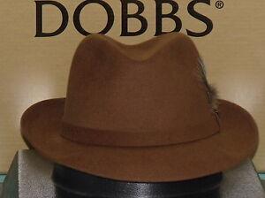 b06c4d4fa3da9 Image is loading DOBBS-BROADSTREET-QUALITY-SUEDE-FUR-FELT-FEDORA-HAT