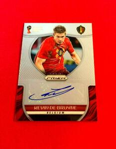 2018 KEVIN DE BRUYNE PRIZM PANINI FIFA WORLD CUP RUSSIA AUTOGRAPH CARD # S-KDB