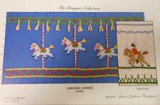 "NEW Smocking Plate ""Carousel Horses/Tally Ho!""   by Ellen McCarn"