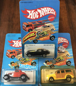 Hot-Wheels-Blackwall-Lot-Of-3-HiRakers-Split-Window-40s-Woody-3-Window-34