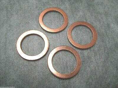 25 Copper Oil Drain Plug Gaskets 12MM I.D by A Plus Parts House 20MM O.D