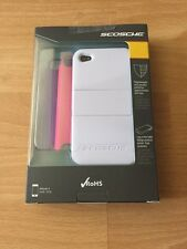 Scosche SwitchBack Case iPhone 4 4s White Pink Purple Colors Kickstand 3 in 1