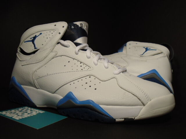 2018 Nike Air Jordan VII 7 Retro WHITE FRENCHIE FRENCH BLUE FLINT GREY BLACK 9.5 The most popular shoes for men and women
