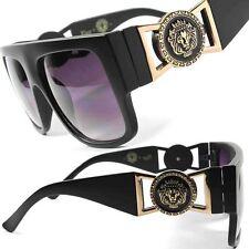 Look Famous Millionaire Dapper Hip Hop Vintage 80's Oversized Square Sunglasses