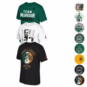 Conor-McGregor-UFC-MMA-Various-Graphic-Print-T-Shirt-Collection-by-Reebok-Men-039-s