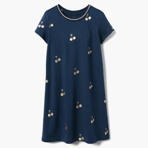 NWT-Gymboree-Cherry-Shift-dress-Girls-Sz-4-5-6-7-8-10-12-14-Navy-Blue