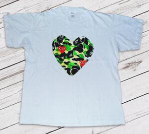 0318b88b8 Vintage CDG Comme Des Garcons x BAPE Full Heart Japan T-Shirt | eBay
