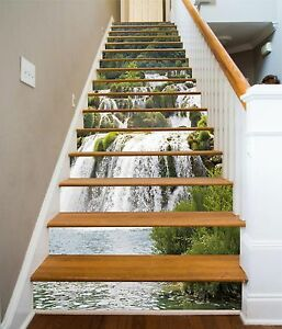 3D-Stream-Rocks-45-Stair-Risers-Decoration-Photo-Mural-Vinyl-Decal-Wallpaper-UK