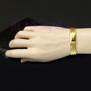 Magnetic-Tungsten-Carbide-CTS-Arthritis-Energy-24K-Gold-Fill-Identity-Bracelet
