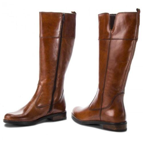 Tamaris con scuro a elastico equitazione e interna marrone stivali zip Womens in pelle 25542 da soffietto rqHYrw