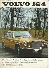 VOLVO  164 SALES BROCHURE 1969 1970