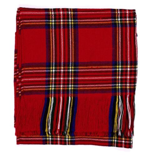 New Ladies Royal Stewart Scottish Tartan Budget Sash 100/% Wool Acrylic for Kilt