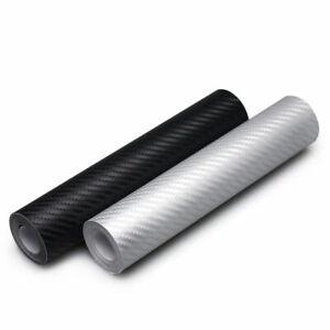 Black-3D-Carbon-Fiber-Vinyl-Car-Wrap-Sheet-Roll-Film-Sticker-Decal-10x127cm-R9L7