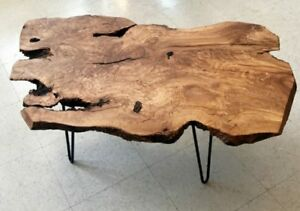 Tavoli Soggiorno In Legno.Tavolino In Legno Massello Di Cedro 100 X 50 Wood Coffee Table Ebay