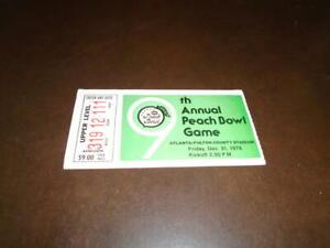 1976 PEACH BOWL FOOTBALL TICKET STUB KENTUCKY VS NORTH ...
