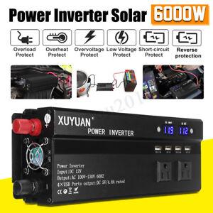 3000-6000W-Car-Solar-Power-Inverter-DC12-24V-to-AC110-220V-Sine-Wave-Converter