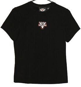 Harley-Davidson-Brand-VICTORY-T-Shirt-SMALL-Womens-Black-Motorcycle