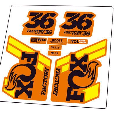 2018 FOX 34 Mountain Bike Front Fork Stickers Bicycle Fox34 Cycling MTB Decals