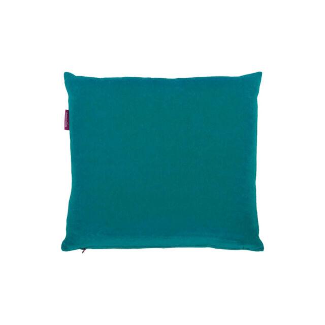 Farbenfreunde Kissenhülle ohne Füllung Nicky Schlaf Kissen Polster Smaragd 40 cm