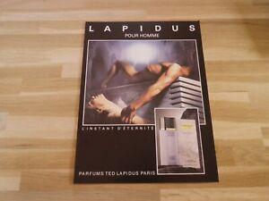 Ted-Lapidus-L-039-Instant-Eternidad-para-Hombre-Publicidad-Papel-Grueso