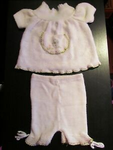 Vintage-RENKO-Knit-Embroidered-Baby-Outfit-New-in-Original-Box-Size-6-9-Months