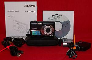 sanyo vpc t1060 digital camera manual cd charger connectors battery rh ebay com sony camera manuals to purchase sony camera manuals free