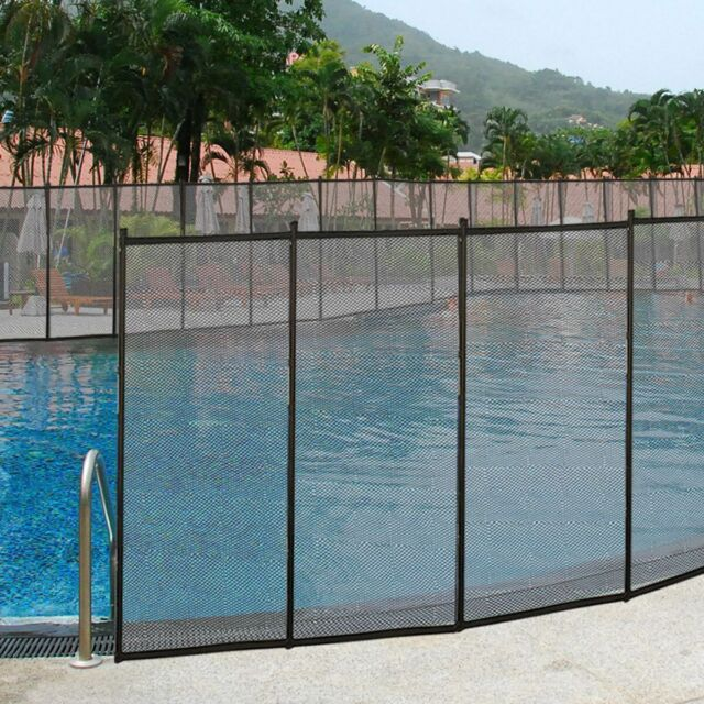 In-Ground Swimming Pool Safety Fence Section Accidental Drowning Prevent 4'x12'