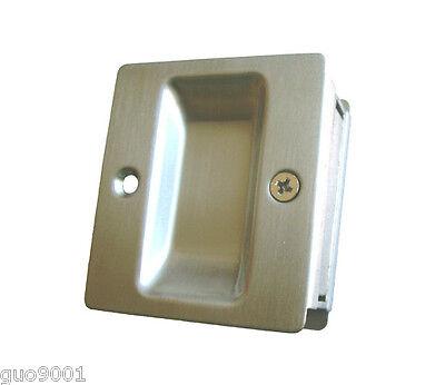 Passage Satin Nickel Pocket Door Pull Lock Lockset