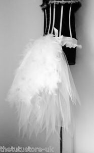 6d395ce013 Image is loading White-Swan-Burlesque-Tutu-Skirt-Bustle-Belt-Feathers-