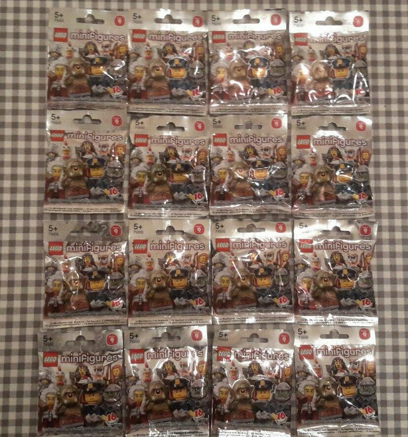 Lego minifigures series 9 (71000) complete unopened set of 16 new factory sealed