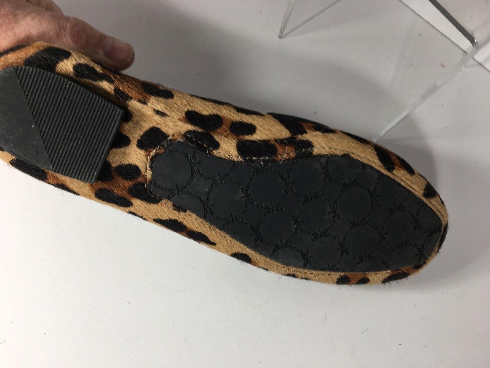 Talbot's Leopard Print Leder Round Größe Toe Driving Flats Damens's Größe Round 7.5 B e174bd