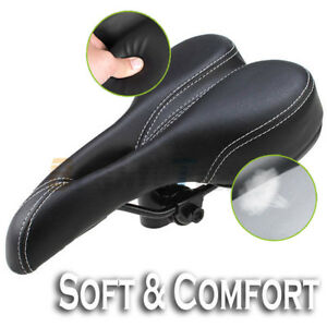 Bike-Bicycle-Pro-Road-Saddle-MTB-Sport-Hollow-Saddle-Seat-Black-soft-Comfort