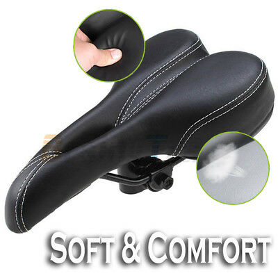 BS Black Bike Bicycle Saddle Seat Comfort Pro Road Saddle MTB Sport Hollow Soft