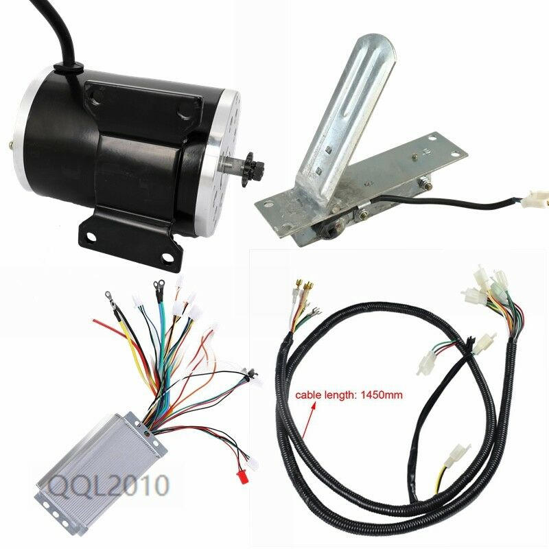 1800W 48V Brushless Motor+ Speed Controller+Electric Thredtle Pedal Wire Harness