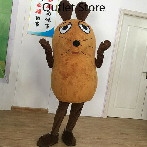 Halloween Cartoon Brown Mouse Cosplay Mascot Costume Outfit Xmas Carnival