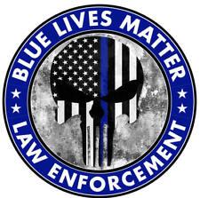 5 Pack Blue Lives Matter Punisher Hard Hat Sticker Laminated Made In Usa 2i