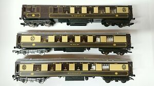 Hornby-OO-Gauge-3-Pullman-Coaches-034-Ibis-034-034-CAR-No-93-034-amp-034-Lucille-034-NEW-Unboxed
