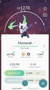 Details about Shiny Marowak Alolan Pokemon Go Trade - Easy Trade (  Description)