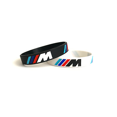 Bmw Sport M Black White Silicone