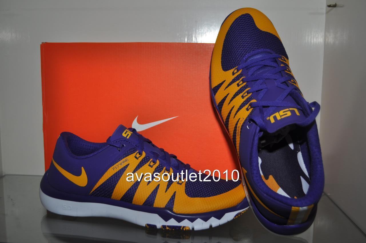 hot sale online 17152 c7df9 LSU LSU LSU Tigers Nike Free Trainer 5.0 V6 AMP Training Shoes Purple  723939 500 NIB