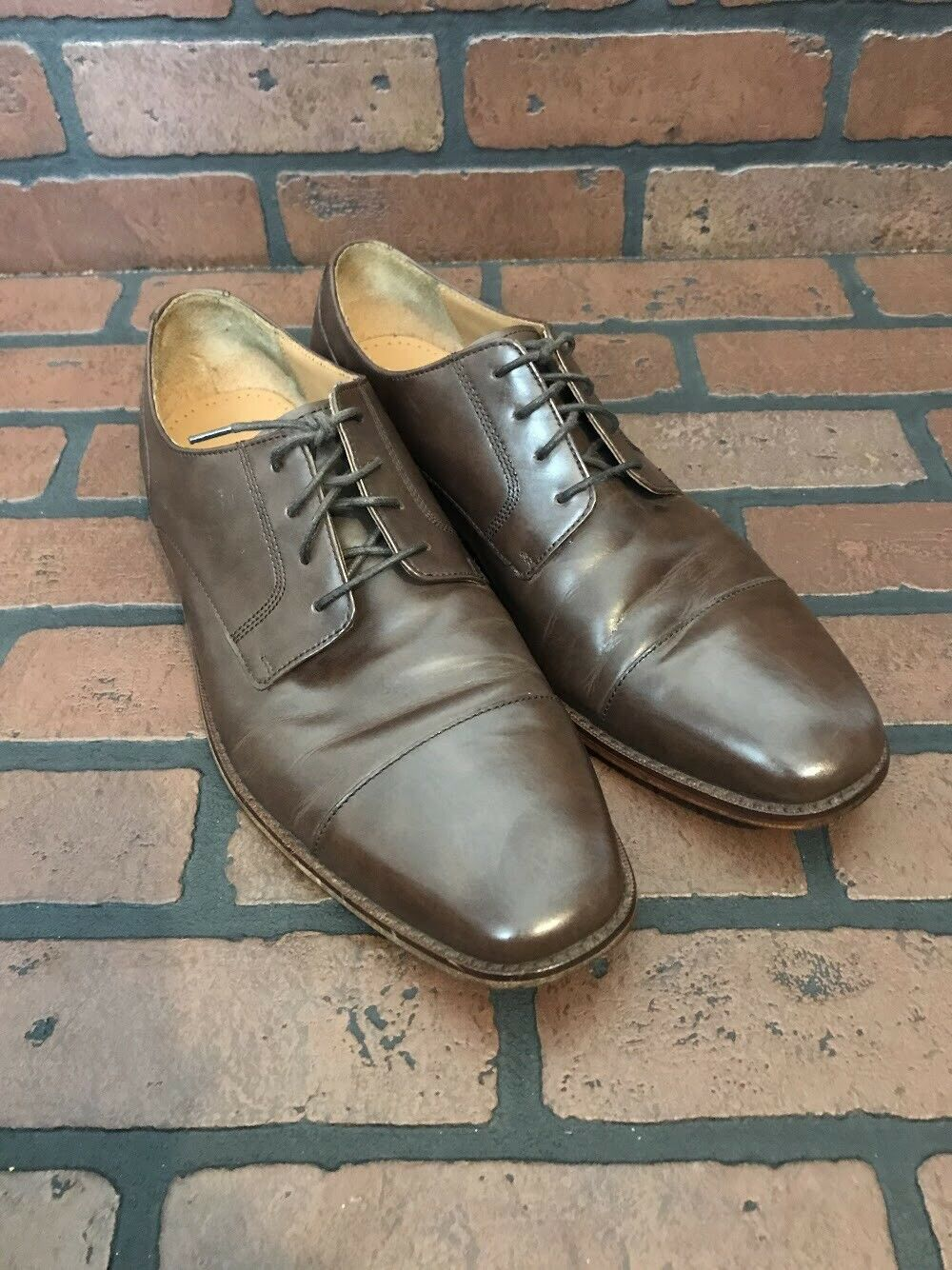 Cole Haan Giraldo Cap Toe Oxford II Chestnut Brown Leather Size 9.5